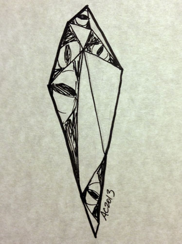 Crystal sketch by Amy Crook