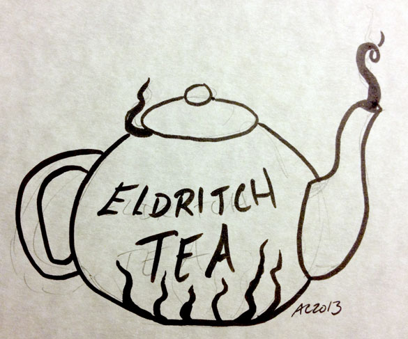 Eldritch Tea sketch by Amy Crook