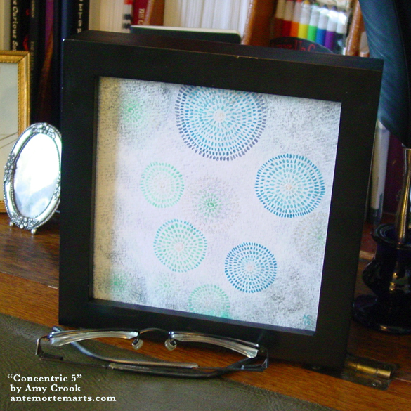 Concentric 5, framed art by Amy Crook