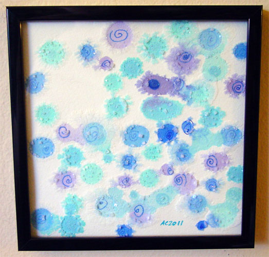 Confetti Rain, framed art by Amy Crook