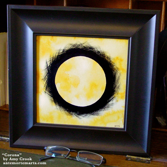 Corona, framed art by Amy Crook