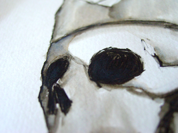 Crowned Skull, detail, by Amy Crook