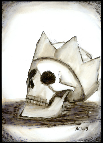 Crowned Skull by Amy Crook