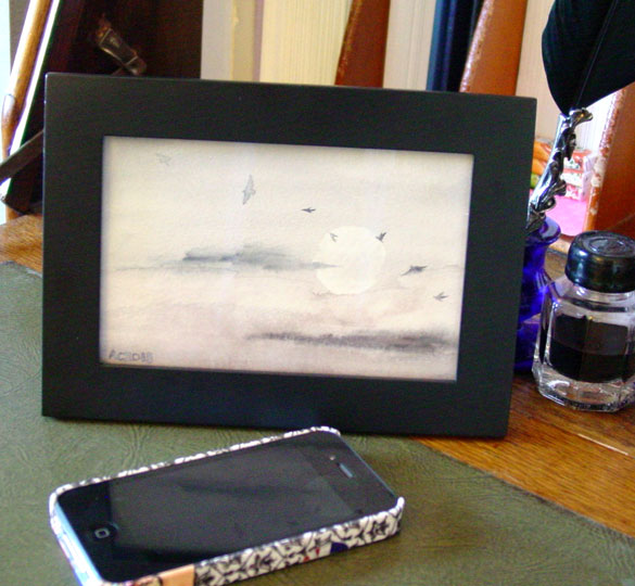 Crows at Dusk, framed art by Amy Crook