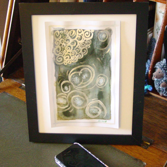 Cthonian Skies, framed art by Amy Crook