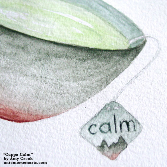 Cuppa Calm, detail, by Amy Crook