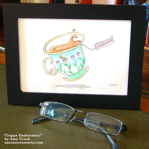 Cuppa Exuberance, framed at by Amy Crook