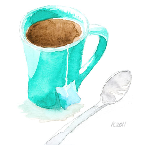 Cuppa Watercolor by Amy Crook