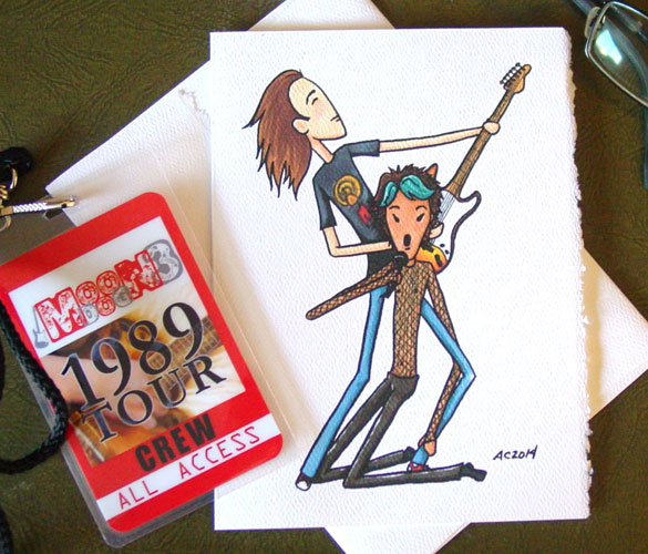 Daron & Ziggy, a rock star Valentine by Amy Crook on Etsy