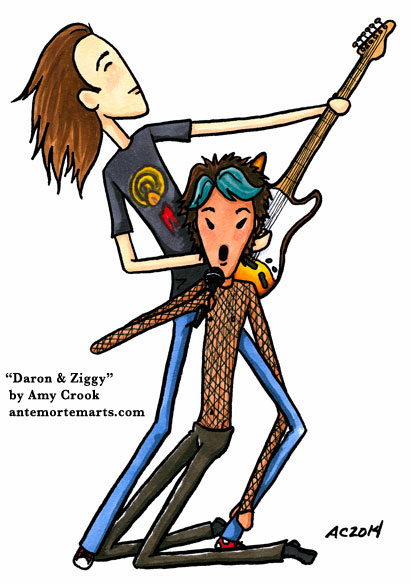 Daron & Ziggy, a Daron's Guitar Chronicles comic by Amy Crook