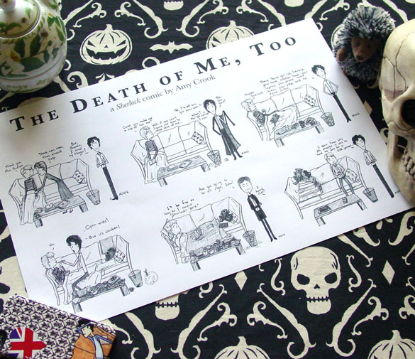 The Death of Me, Too, a Sherlock print by Amy Crook