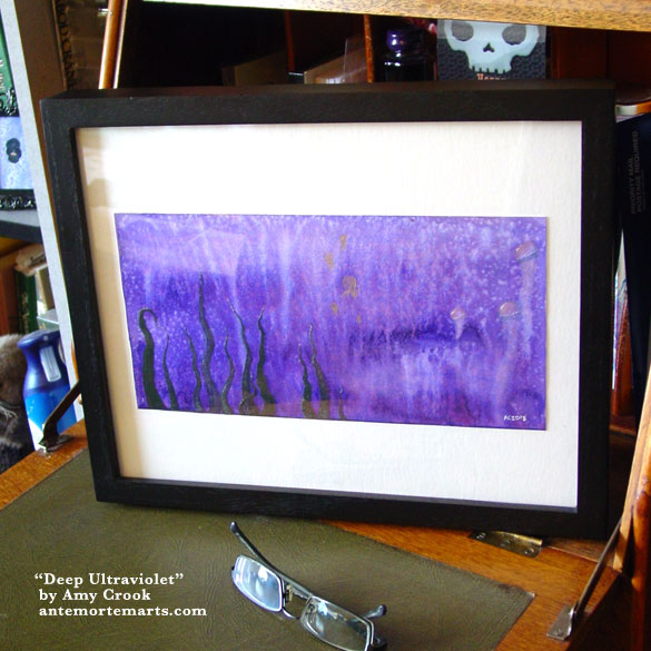 Deep Ultraviolet, framed art by Amy Crook