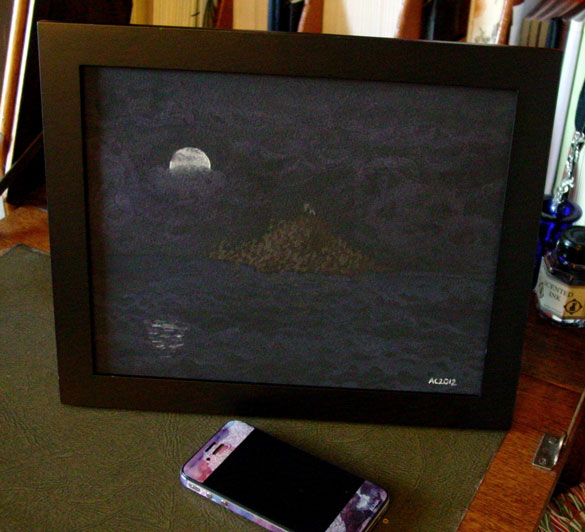 Demonsreach, framed art by Amy Crook