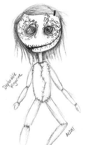 Deplorable Figurine, sketch by Amy Crook
