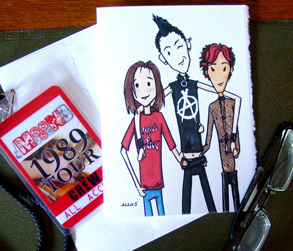 Daron, Colin, and Ziggy greeting card by Amy Crook at Etsy