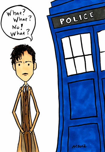 What What What, Doctor Who fan art by Amy Crook