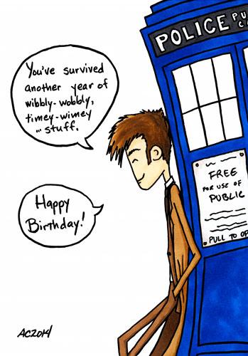 Birthday Timey-Wimey, a Doctor Who parody comic by Amy Crook