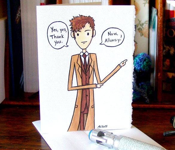 Doctor Who thank you card by Amy Crook on Etsy