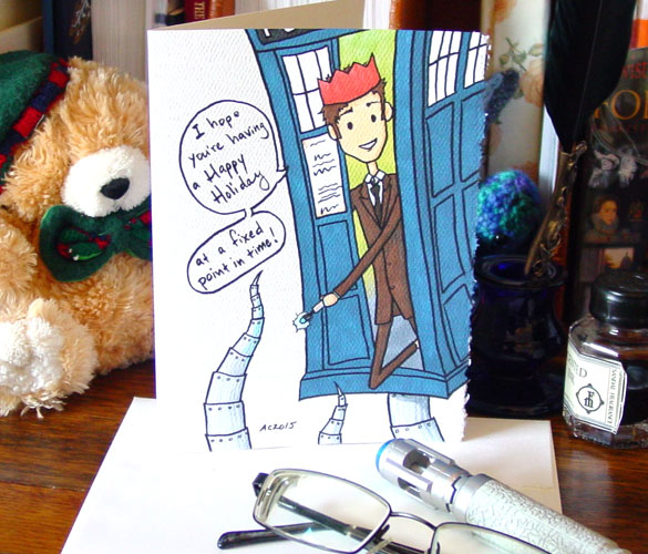 Fixed Point, a Doctor Who parody card by Amy Crook on Etsy