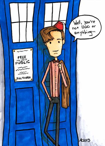Eleven's 1100, Doctor Who fan art by Amy Crook