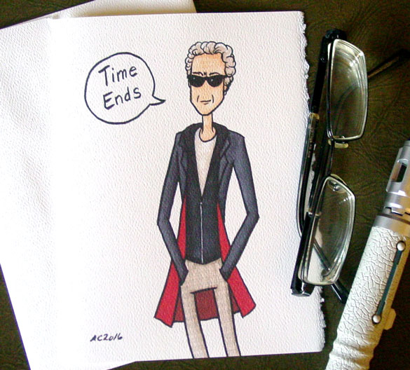 Twelfth Doctor greeting card by Amy Crook on Etsy