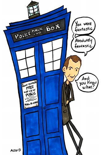 the doctor loves fan art of himself. or just himself. one of those.