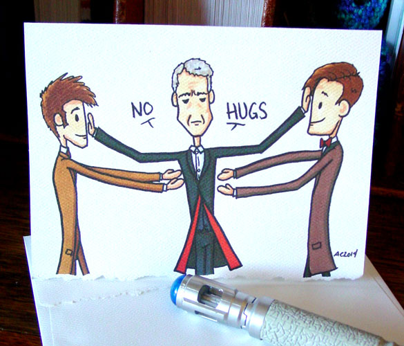 No Hugs 2, a Doctor Who unValentine by Amy Crook on Etsy