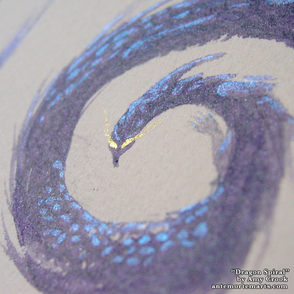 Dragon Spiral, detail, by Amy Crook