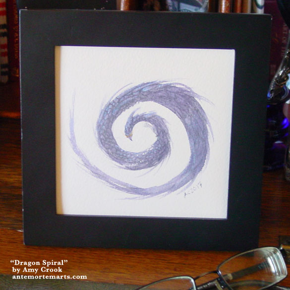 Dragon Spiral, framed art by Amy Crook