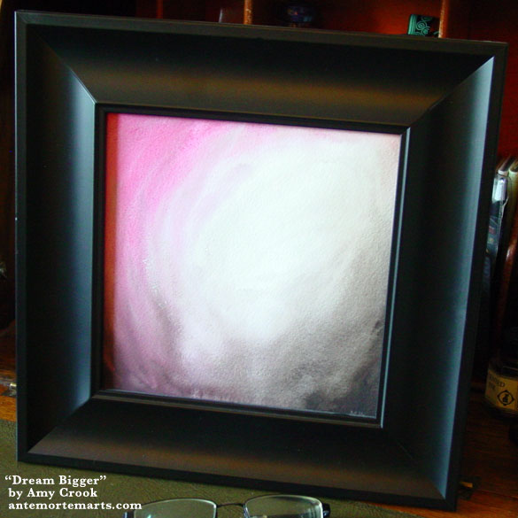 Dream Bigger, framed art by Amy Crook