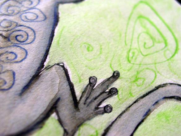 Drunk Lizard, detail, by Amy Crook