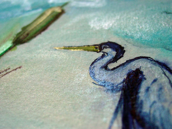 Birdwatching, detail, by Amy Crook
