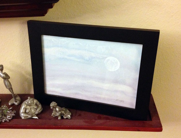 Dusk Moon, framed art by Amy Crook