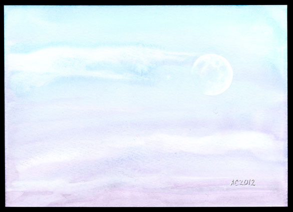 Dusk Moon by Amy Crook, $250