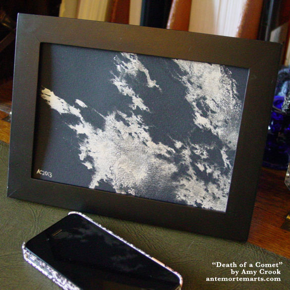 Death of a Comet, framed art by Amy Crook