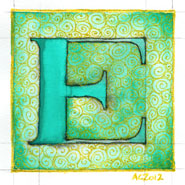 E is for Emboss