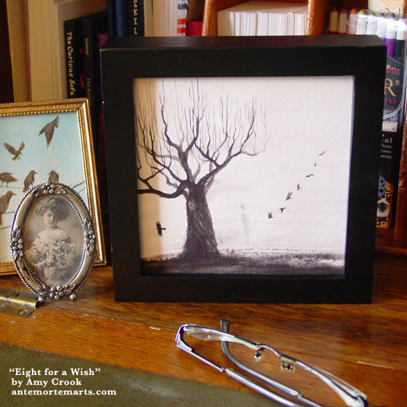 Eight for a Wish, framed art by Amy Crook