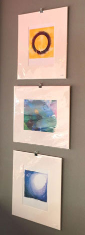 abstract art prints at Endgame Cafe by Amy Crook