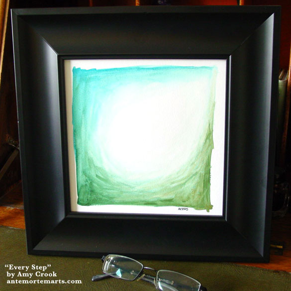 Every Step, framed art by Amy Crook