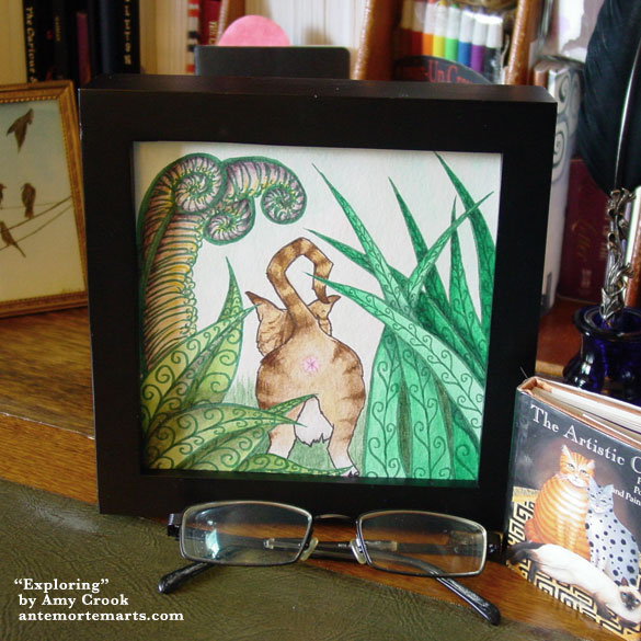 Exploring, framed art by Amy Crook