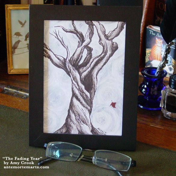 The Fading Year, framed art by Amy Crook