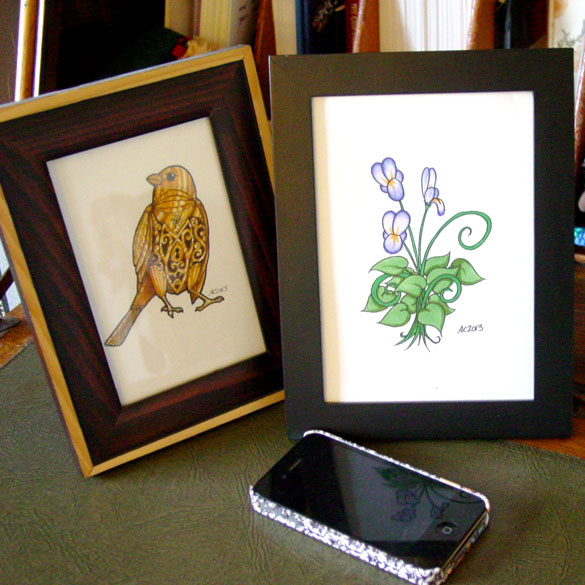 Fairy Flower & Horace, framed art by Amy Crook