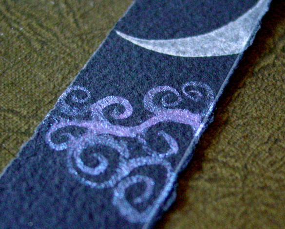Fairytale Sky Bookmark 2, detail, by Amy Crook