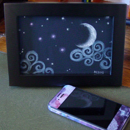 Fairytale Sky, framed art by Amy Crook