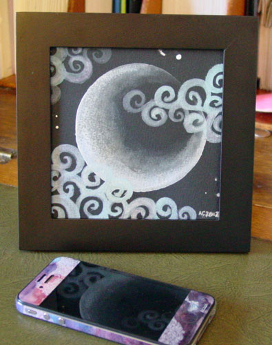 Fairytale Sky 4, framed art by Amy Crook