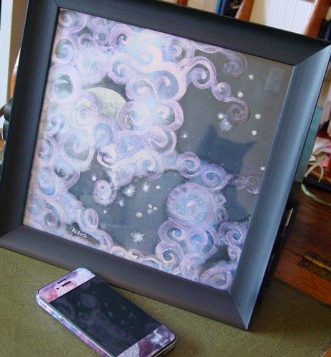 Fairytale Sky 5, framed art by Amy Crook