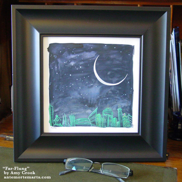 Far-Flung, framed art by Amy Crook