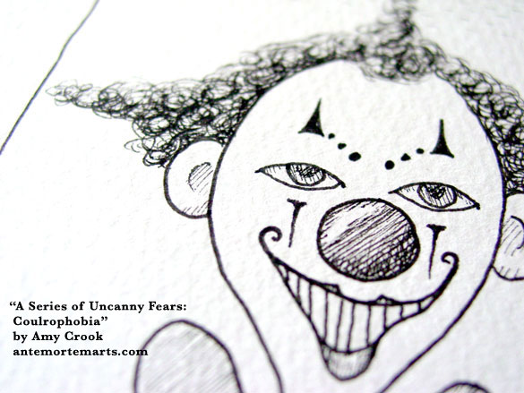 A Series of Uncanny Fears: Coulrophobia, detail, by Amy Crook