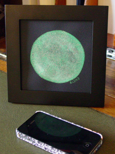 Filigree Moon 3, framed art by Amy Crook