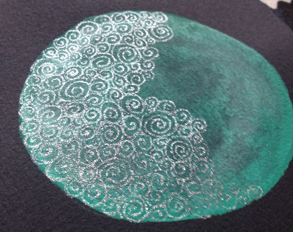 Filigree Moon 3, work in progress part 2, by Amy Crook